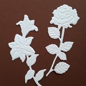 вырубка Цветы с эмбоссингом