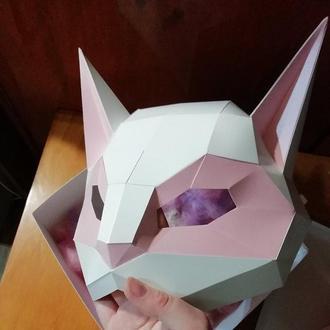 Маска- половинка Кошка