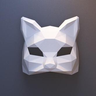 Маска- половинка Котик