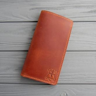 Шкіряний Тревел-кейс, портмоне для путешествий_ шкіряний гаманець для документів і квитків