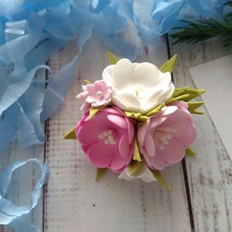 """Резинка для волос """"Весенний вальс"""", резинки для девочки, подарок для для девочки"""