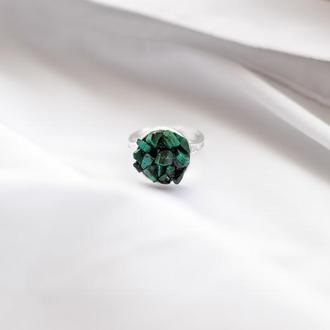 Перстеник з малахітом - кольцо с натуральным малахитом