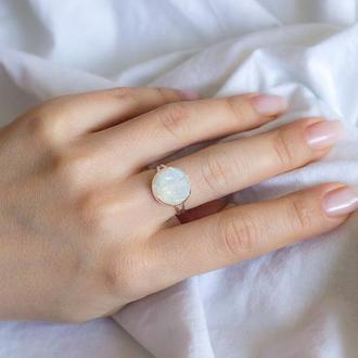 Перстеник з адуляром місячним каменем - кольцо с лунным камнем адуляром