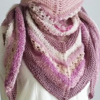 Полушалок Boho (розовый)