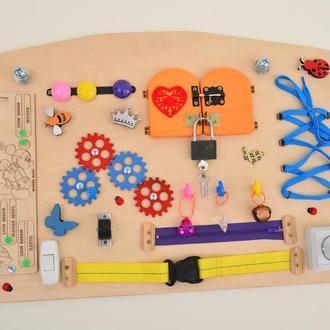 Розвиваюча дошка для малюків, монтессорі іграшка, busy board