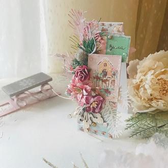 Маленькая открытка. Новогодняя открытка