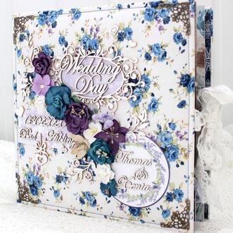 Большой свадебный фотоальбом  , свадебный скрап альбом ,оригинальный подарок на свадьбу