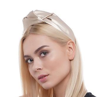 Тюрбан-обруч из ЭКО кожи, повязка обруч, повязка на голову