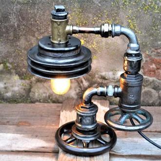 Настольная лампа в стиле лофт стимпанк