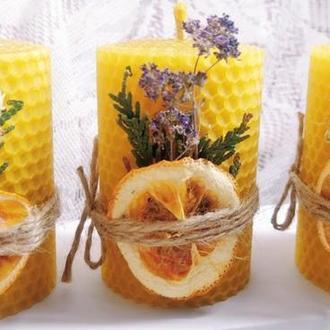 Натуральные свечи из вощины из вощины с натуральным легким запахом меда