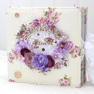 Свадебный фотоальбом скрапбукинг  , семейный альбом , весільний альбом , сімейний альбом