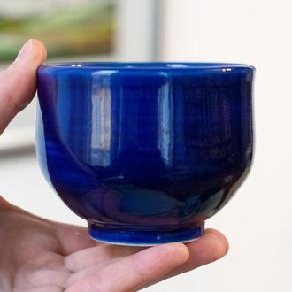 Синяя чаша без ручки