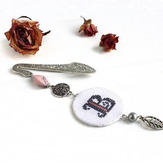 Закладка для блокнота с камнями Оригинальная закладка в книжку Именной подарок для девушки