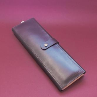 Кожаный пенал для кистей. 060506