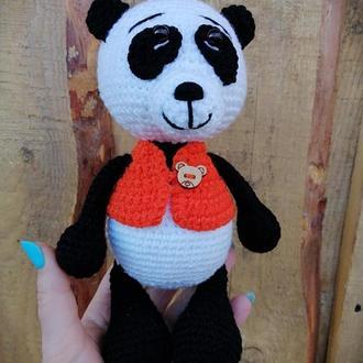 Панда. Мишка панда.Медвежонок. Вязаный мишка.
