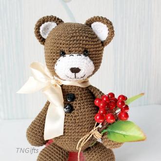 Мишки Тедди крючком/Медвежонок вязаный крючком/Подарок на день рождение ребенку