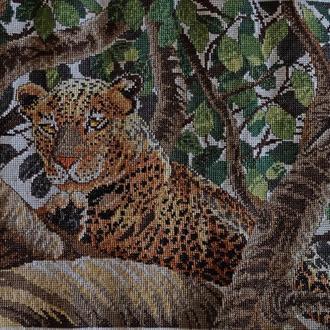 """Вишита картина """"Леопард"""""""