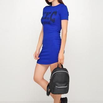 Большой женский черный рюкзак, экокожа