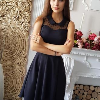 Черное силуэтное платье