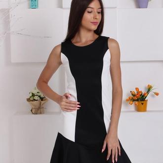 Элегантное контрастное платье