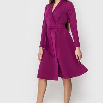 Платье на запах с шалевым воротником