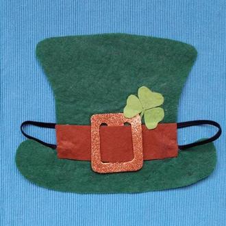 Налобная маска Шляпа Лепрекона