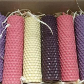 Подарочный набор свечей из вощины Натуральные еко свечи для дома и декора