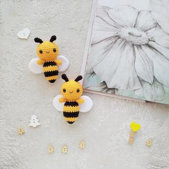 Вязаная игрушка Пчелка