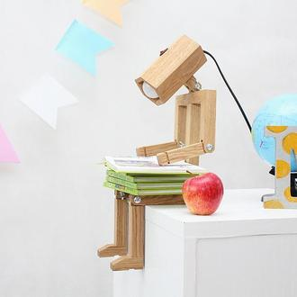 РОБОТ лампа игрушка деревянная для детской комнаты. До 10 позиций!
