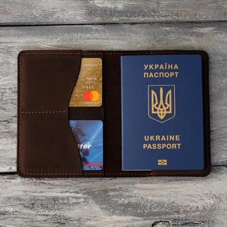 Обложка для паспорта из натуральной кожи ручной работы