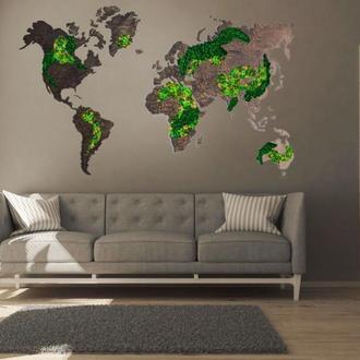 Декоративні карти світу та України