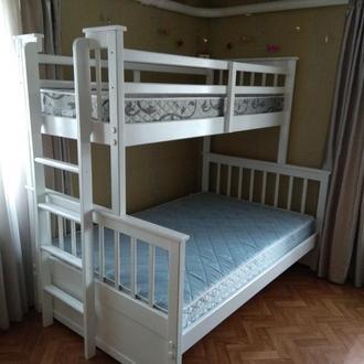 Кровать Двухъярусная из натурального дерева - Магелан