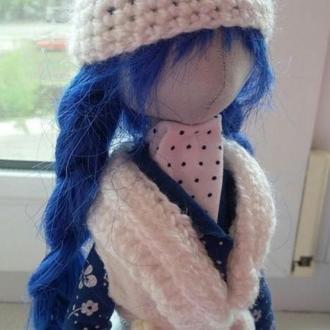 Текстильная куколка Уля ручной работы