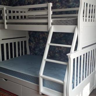 Кровать двухъярусная из натурального дерева Джонатан