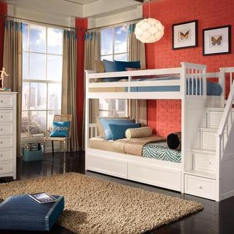 Кровать двухъярусная Стелла из натурального дерева ольхи