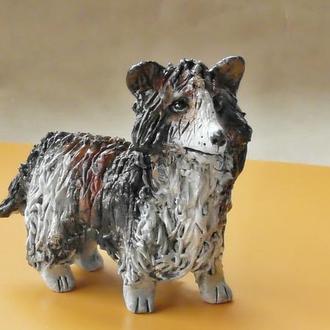 Статуэтка в виде собаки породы Шелти