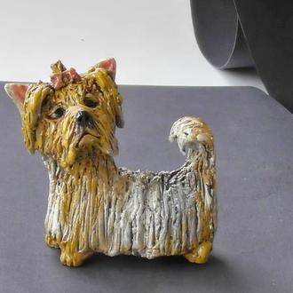 Статуэтка Йоркширский терьер керамика