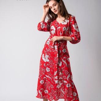 Красное длинное платье ANNA TIM