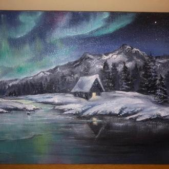 Зимний пейзаж картина