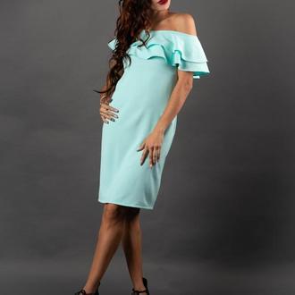 Кокетливое ментоловое платье