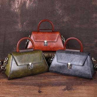 Кожаная женская сумка Скарлет