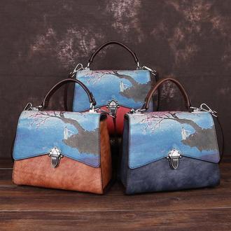 Кожаная сумочка Мадлен