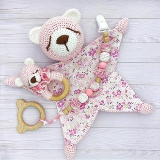 Комплект игрушек для новорожденного, Мишки