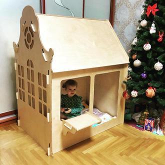 Дитячий дерев'яний ігровий будиночок