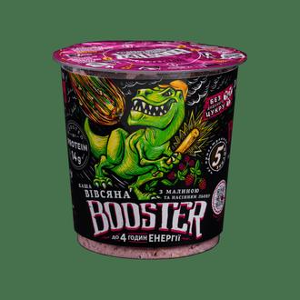 Каша овсяная быстрого приготовления с малиной и протеином Booster 75г