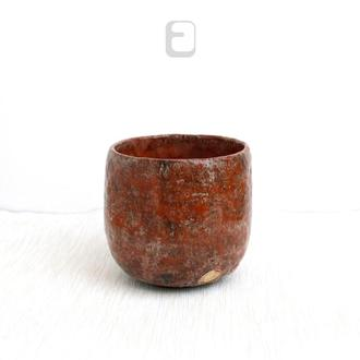 "Work no. 537W —  чаша, пиала, тяван, чаван ""Terra Cotta"", teabowl in japanese style"