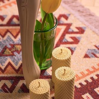 Набор натуральных свечей цвета слоновой кости из вощины, интересный декор для дома и свадьби