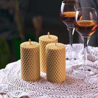 Свадебные свечи для декора, подарочный набор гостям, натуральные свечи из вощины