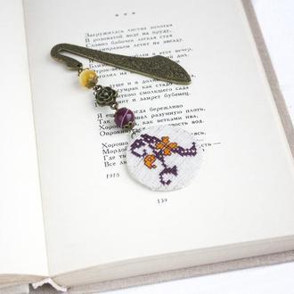 Оригинальная закладка для книг с монограммой Книжная закладка Подарок на день матери любителю чтения