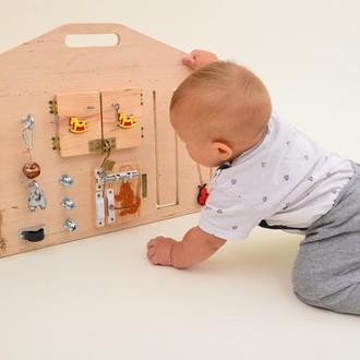 Бизиборд для ребенка, монтессори игрушка, развивающая игрушка